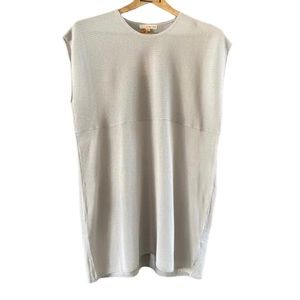 Orange Creek Pastel Gray Knit Relaxed Fit Top S/M
